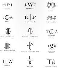 Monogram Reference Guide | prepitude