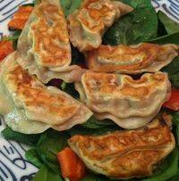 Turkey-scallion potstickers