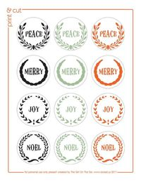 Gorge FREE printable tags/stickers from