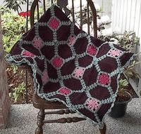 Dahlia Afghan with pattern