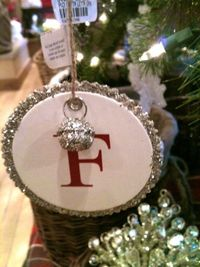 Potterybarn Inspired: Monogram Ornament