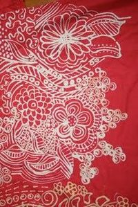 draw on fabric with a bleach pen.