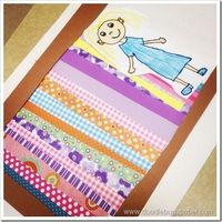The Princess and the Pea...love the scrapbook paper bed!
