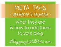 Meta Tag Description & Keywords. Conquering SEO!
