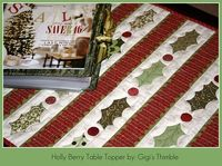Holly Berry Table Topper Tutorial,