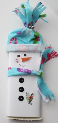 Snowman Chocolate Bar wraps with fabric and My Digital Studio (includes video)