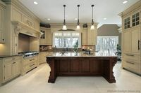 Traditional Two-Tone Kitchen Cabinets (Kitchen-Design-Ideas.org)