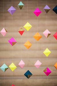 glittered geometric paper backdrop // photo by Izzy Hudgins // design by Nicole Rene Events