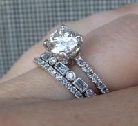beautiful...love skinny stacked rings
