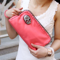 Women Lady Girl Skull Faux Leather Exquisite Handbag Shoulder Bag Clutch Purse