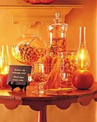 Halloween Tablescape --glowing and warm. #halloween tablescape #halloween