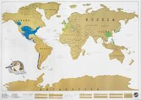scratch off world map - I Will have one of these!