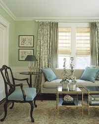 Fresh Greens and blues. some wonderful ideas and a fresh take on traditional design from 2003!