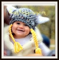 SALE 15% off use coupon code LOVE14Viking hat for by NattyHatty, $22.99