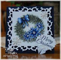 Beautiful wreath card using Spellbinders and ODBD stamps