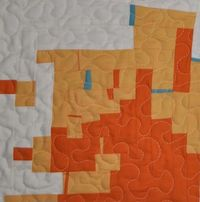 Improv / free form quilt blocks series block 6 tutorial