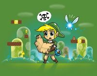 Link is so totally lost. How did he even get in the Mushroom Kingdom?