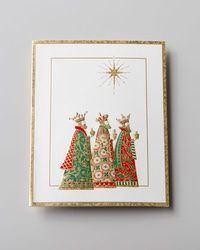 """Three Wise Men"" Embossed Christmas Cards by Caspari at Horchow."