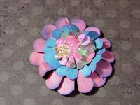 How To Make A Scalloped Paper Flower