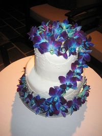 Blue Orchid Wedding Cake by Tantissimo Cakes, via Flickr