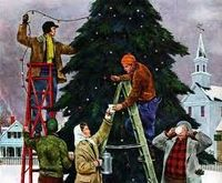 stringing the lights