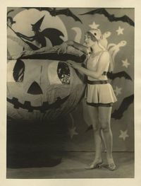 Esther Ralston and her giant pumpkin - c. 1920s
