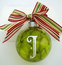Alcohol inked ornament