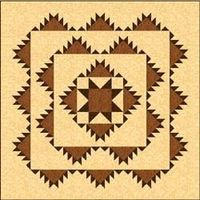 Free Delectable Mountains With Variable Star Quilt Pattern