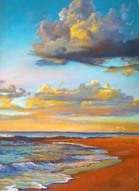 Marengo Sunrise by Lynda Robinson Pastel on Colourfix paper 70cm x 50cm