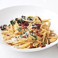 Pasta Carbonara - The famous restaurant in the Campo d'Fiori in Rome, La Carbonara, was named after this specialty pasta.