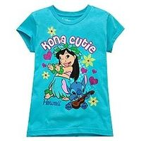 Hawaii Lilo & Stitch Tee for Girls -- Made With Organic Cotton