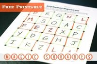 Free printable game that's a simple, addictively fun way to practice letters, sight words, math facts and more.