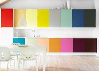 Rainbow Cabinets- so simple and fun.