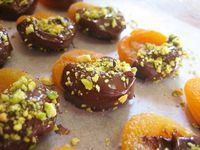Chocolate-Dipped Apricot and Pistachio