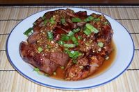 Chinese BBQ Pork with Garlic Sauce