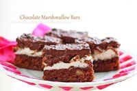 Chocolate Marshmallow Bars by