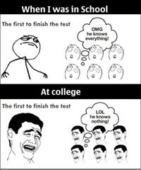 Funny MEME School-vs. College- Lol Image