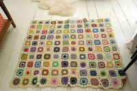 #crochet #granny square #afghan from Yvestown