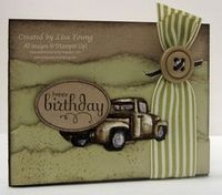 male birthday - like the color of the truck
