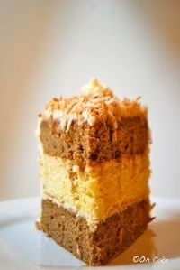Chai Almond Cake with Toasted Coconut Buttercream via Oh Cake blog