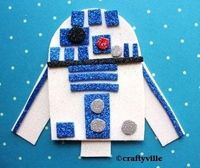 r2d2 out of glitter foam sheets