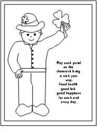 St. Patrick's Day Coloring Sheet from Make Learning Fun