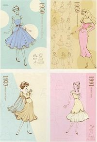 Vintage Looking Disney Princesses