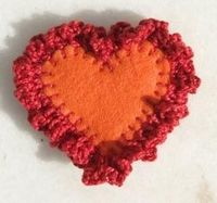 How to Crochet a Heart Brooch, Quick Crochet Project