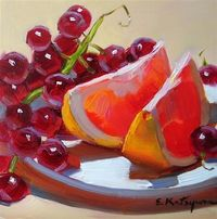 Grapefruit and grapes, oil