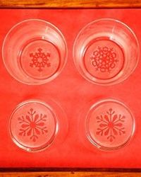 Etched Snowflake Glasses