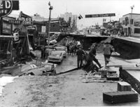 Anchorage, Alaska Great Alaskan Earthquake of 1964, 9.2 magnitude on the Richter scale, 3rd largest ever recorded