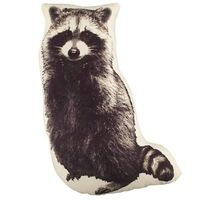 Boys Pillows: Raccoon Print Throw Pillow in Kids Throw Pillows