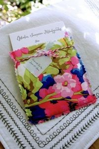 Spring-Inspired Fabric Pocket Birth Announcements