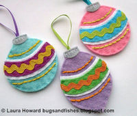 Felt baubles tutorial